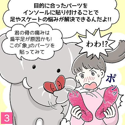 カスタムインソール漫画1-3