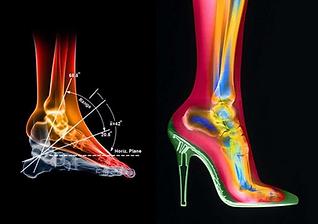 ハイヒール靴の中の足