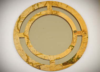 "Wood Mirror ""4 Points"""