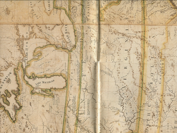 """""""Emerging US Nation Map"""" 1800's"""