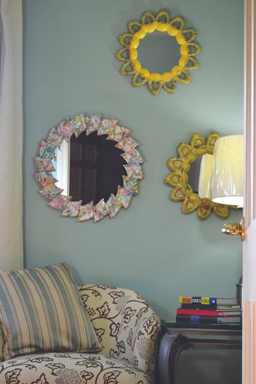 Collection of Papier Mache mirror