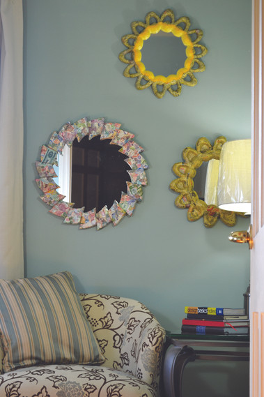 Collection of Papier Mache mirror