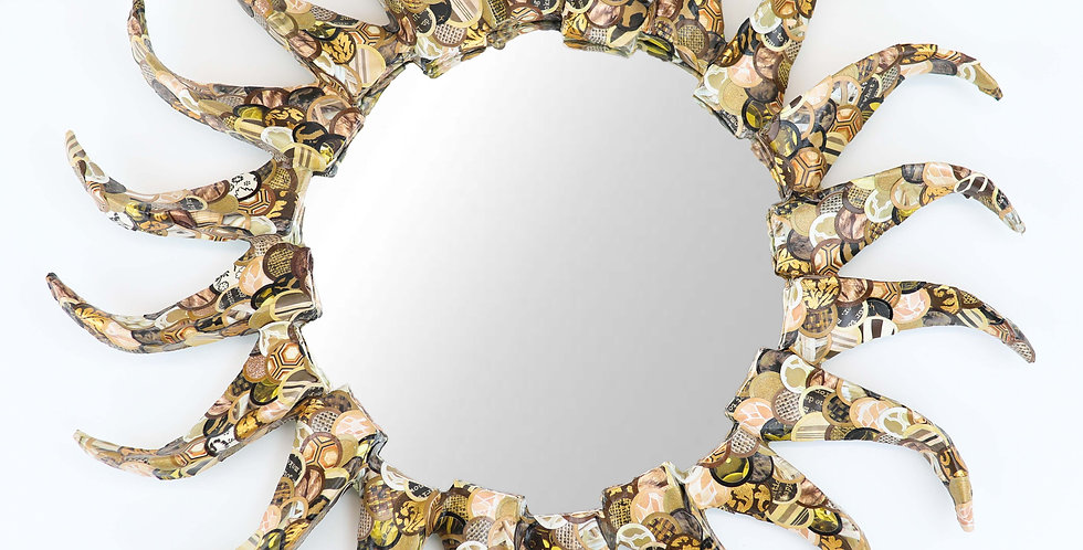 Earth tones wall mirror, Accent mirror, Eclectic decor