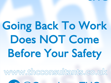 Stay Safe - Returning To Work