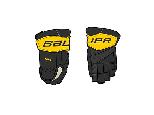 Hawks Custom Team Gloves