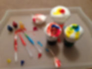 Shavng cream colour mixing for preschoolers