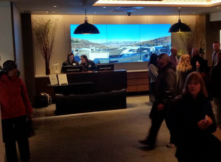 New Limelight Hotel in Snowmass Village, CO features Roundshot Livecam video wall in lobby