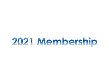 2021 Membership Forms Now Available