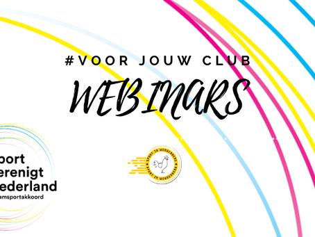 Webinars voor jouw club! #SportverenigtNederland