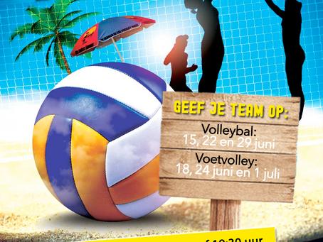 BEACHTOERNOOI #volleybal&voetvolley