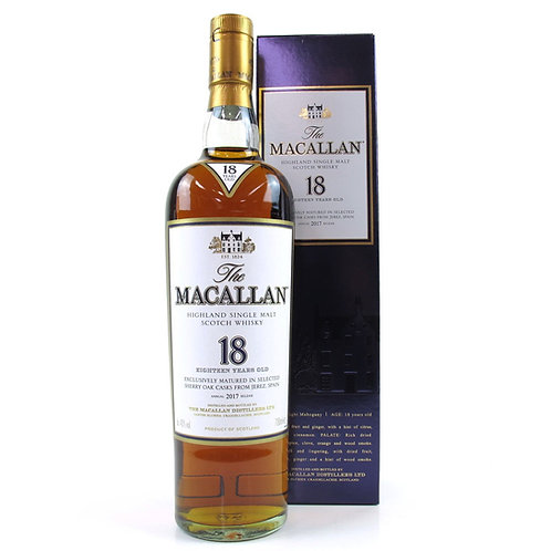 Macallan 18 Year Old Sherry Oak 2017