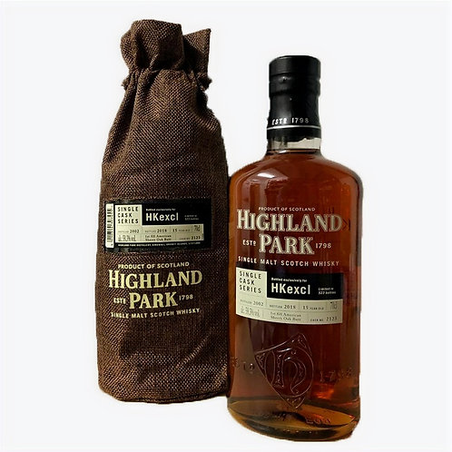Highland Park 15 Year Old Hkexcl Limited of 523bottles Distilled in 2002