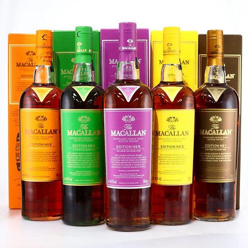 Macallan Edition No.1-5 (Set of 5 bottles)