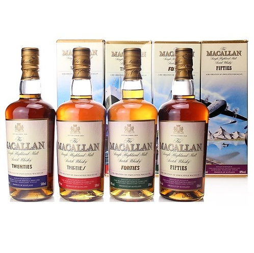 Macallan Travel Series 1920s-1950s