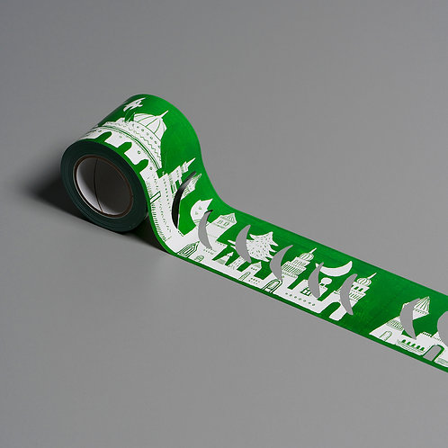 Artist Lace Tape Green City (Kentarou Tanaka)
