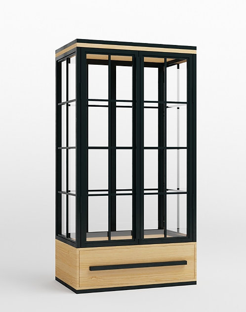 Гардеробный шкаф-витрина