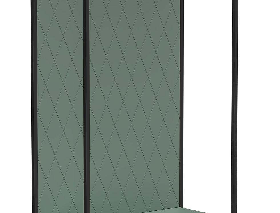 Прихожая Rhomb joint зеленая