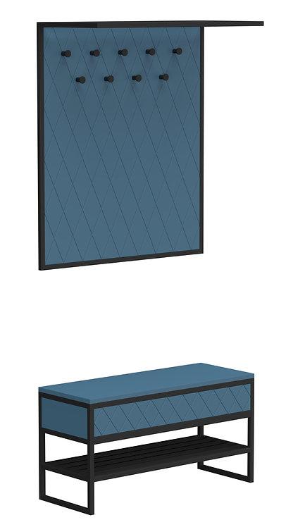 Комплект прихожей  Rhomb синий