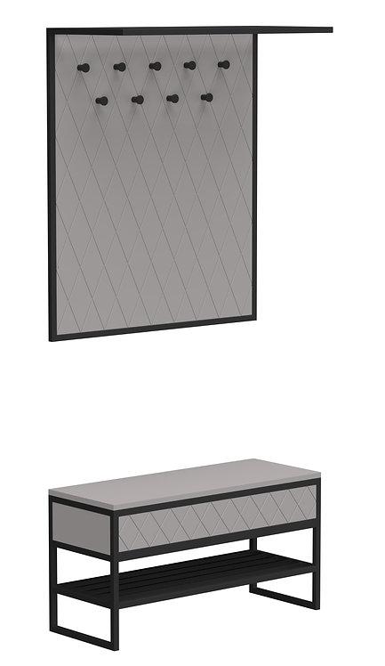 Комплект прихожей  Rhomb серый