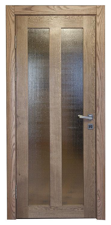 Дверное полотно из дуба с вставками из армированного стекла