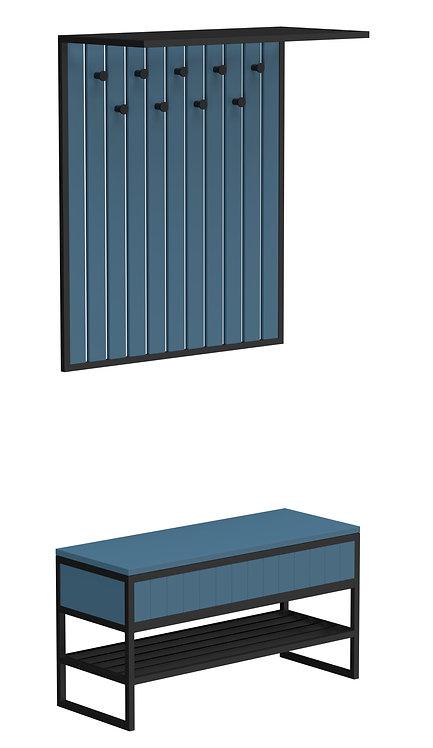Комплект прихожей Rail синий