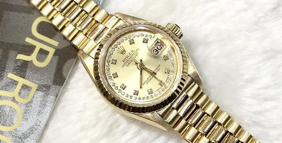 Rolex Datejust Lady size Gold 18K Ref. 69178
