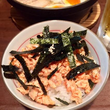 salmon flaked rice