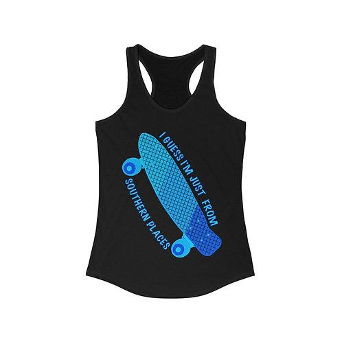 California Cruiser Women's Racerback Tank Blue