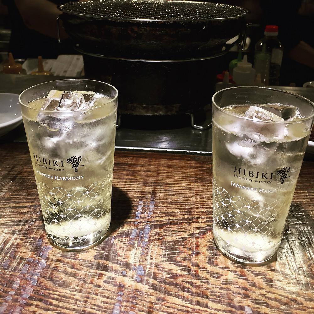 Two Hibiki High Balls in Japan