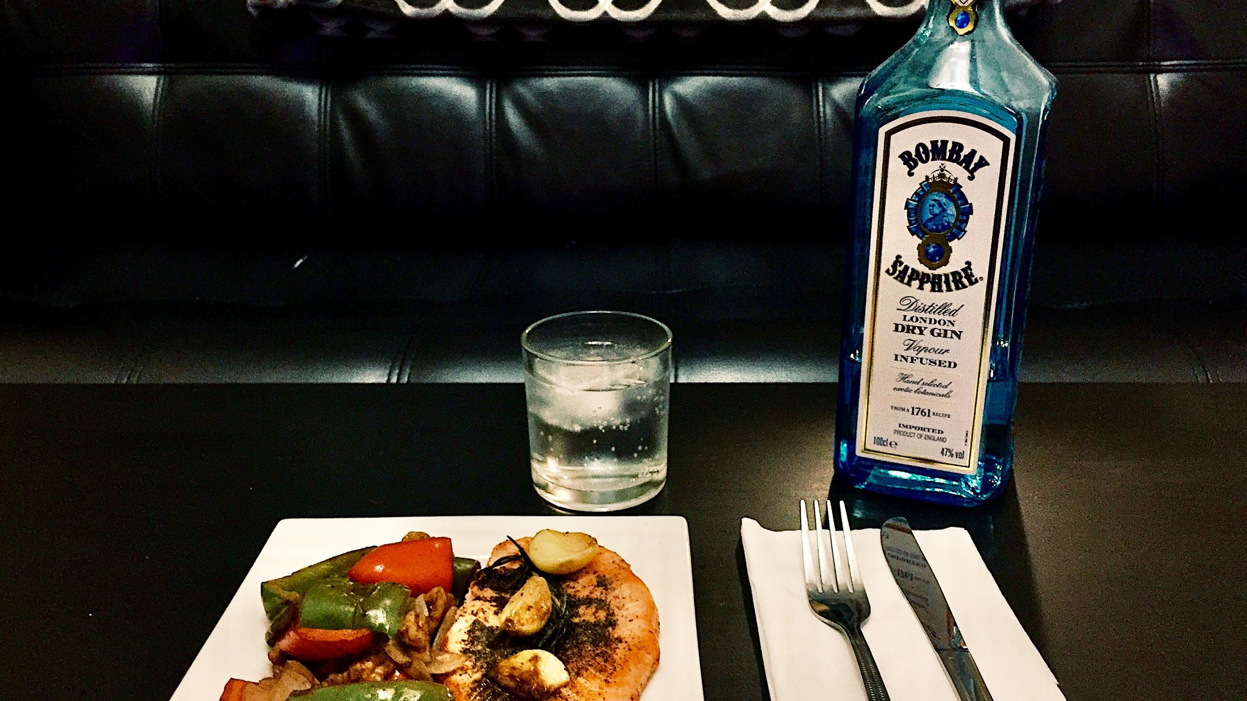 Gin Tonic with Salmon
