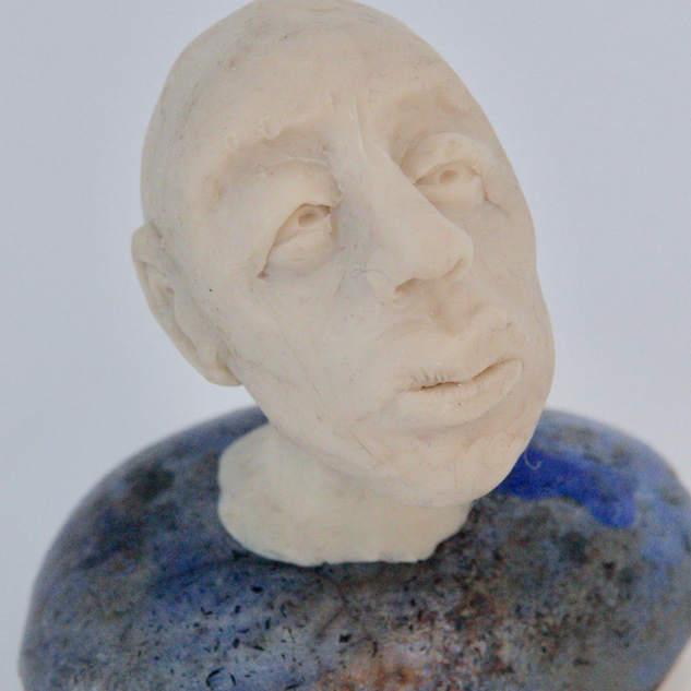 Sculpture. Wax and raku ceramics.