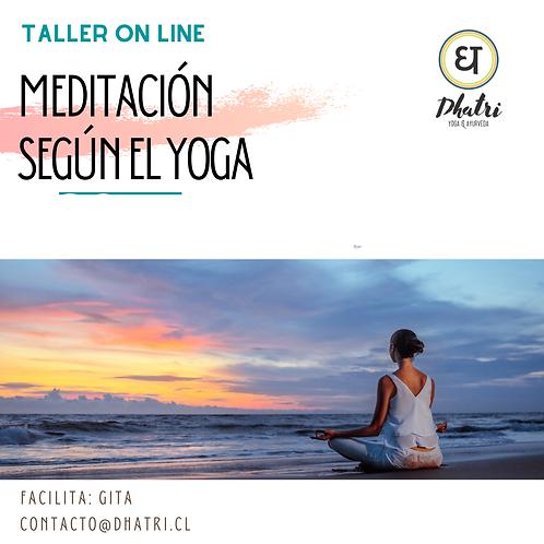Taller de meditación según el Yoga