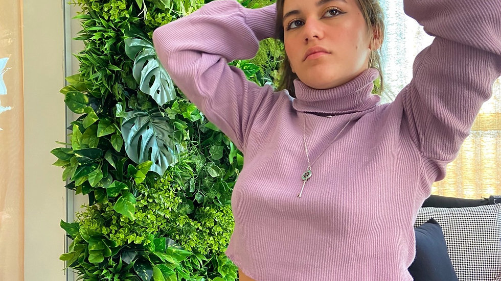 Tricot Hailey Lilás