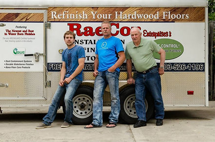 Sand and finish trailer, 3 hardwood installers