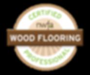 NWFA certified wood flooring professional badge