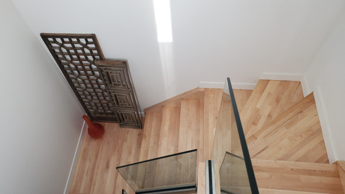 Maple Hardwood Stairs - After