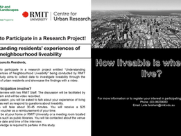 RMIT University Looking For Residents of Melbourne's Outer Suburbs