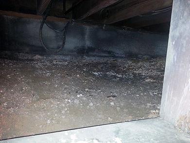 Basement crawlspace waterproofing