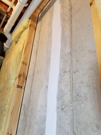 Basement wall crack waterproofing
