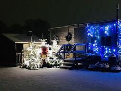 Snow at Christmas Tree Place our tree farm near Hemel Hempstead
