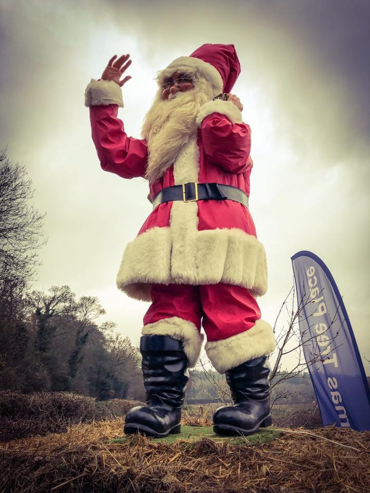 Father Christmas at our Christmas Tree Farm Berkhamsted Hertfordshire