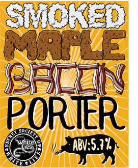 Smoked Porter 5.7% ABV. Using smoked malt and a lot of maple syrup, this smokey number is just like low and slow BBQ in a glass.