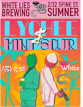 Kettle Sour ABV : 3.5%. Our kettle soured Berliner Weisse is soured using a strain of lactobascillus before being fermented with US05. It is then hit with some mint and lychee, a perfectly refreshing mix of lightly sweet and very sour.