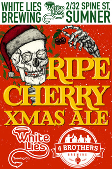 Ripe cherry Xmas ale, the beer that smells like Xmas. Rich chocolate paired with cherries and a hint of coconut round out the palate.