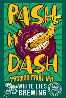 Passionfruit India Pale Ale 6.5% ABV. A light coloured west coast style IPA that is 100% hopped with Galaxy. The addition of Passionfruit provides an intense passionfruit aroma and flavour.