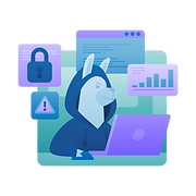 cybersecurity marketing illustration