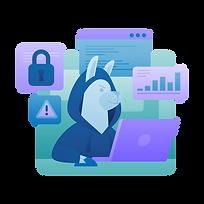 IT Cybersecurity Marketing Illustration