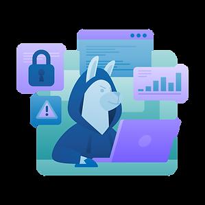Cybersecurity Marketing Case Study Illustration