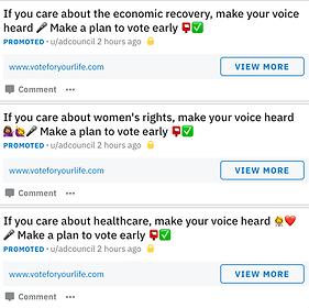 Example of Reddit Bumper Ads