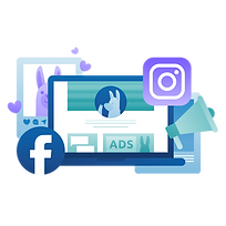 Ultimate Guide to Facebook and Instagram Marketing Illustration